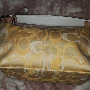 Rare vintage yellow mini hobo bag